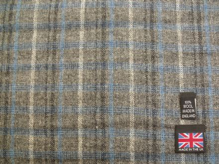 Lightweight 100% Wool Vintage Tweed Check Fabric AZ99